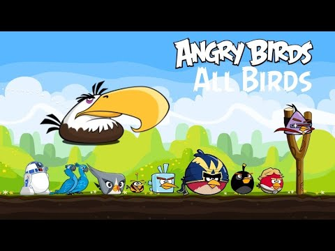 All Birds In Angry Birds (slingshot Games) Gameplay