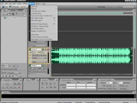 How To Record On Multi track in Adobe Audition