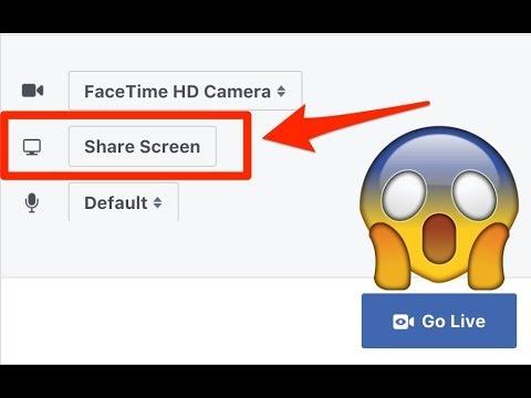 Facebook Built In Screen Sharing Released!