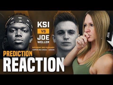KSI vs JOE WELLER FIGHT + UNDER CARD REACTION & PREDICTIONS!