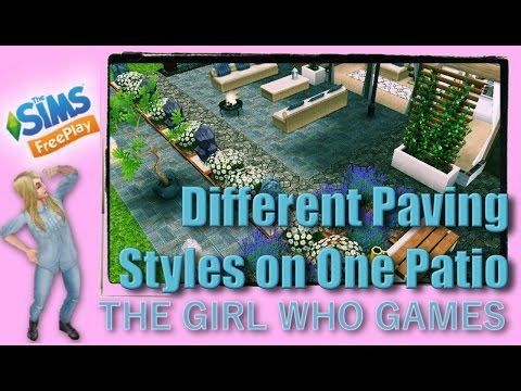 The Sims Freeplay- HOW TO: Different Pavings Styles on One Patio