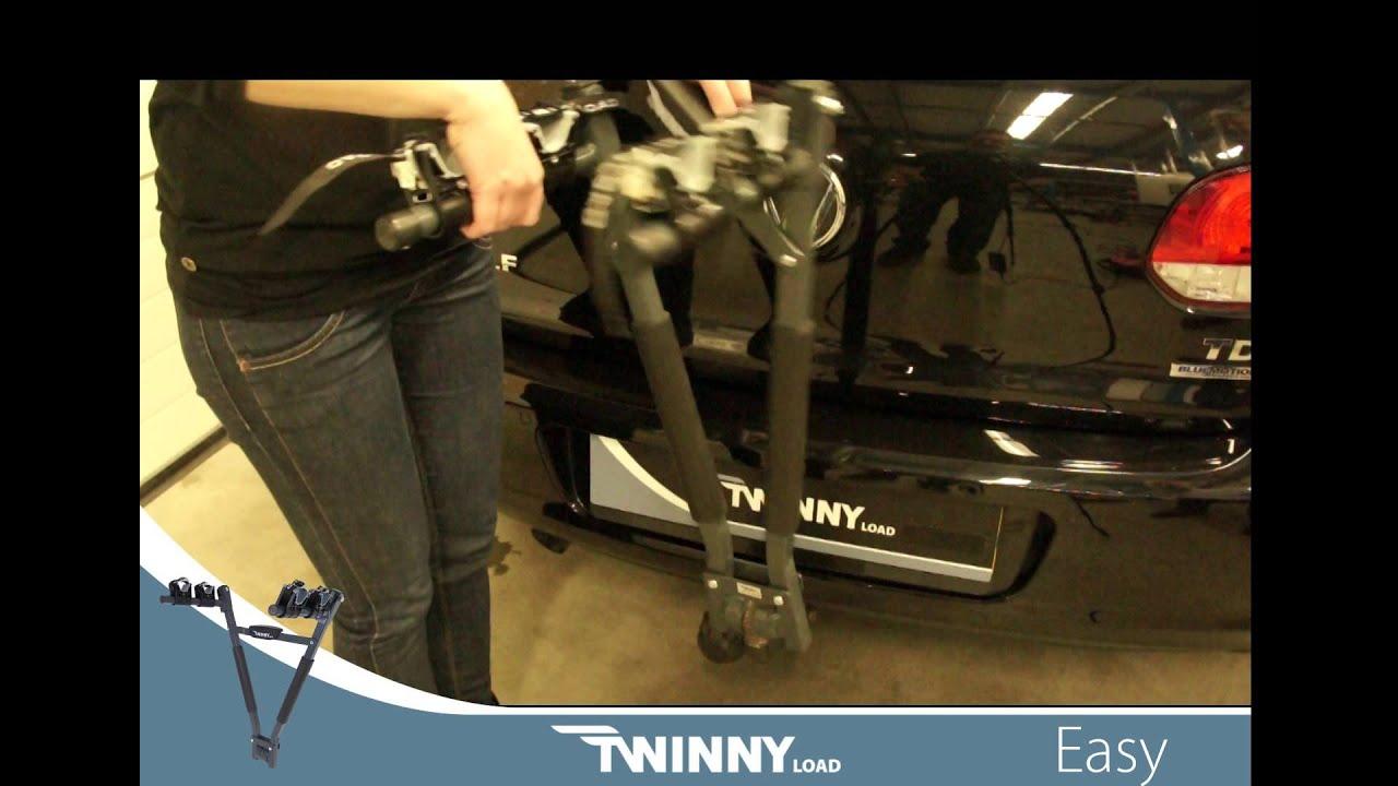 twinny load easy fietsendrager youtube. Black Bedroom Furniture Sets. Home Design Ideas
