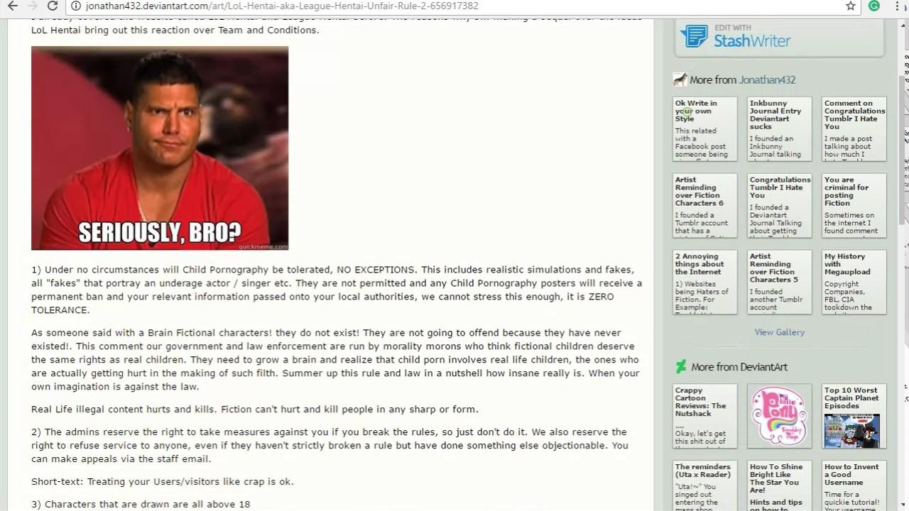 Hentai Web Sites within lol hentai aka league hentai unfair rule 2 - youtube
