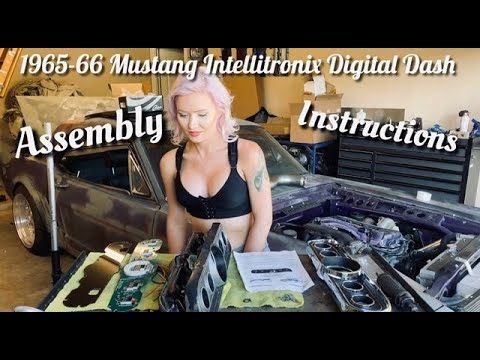 1965-1966 Ford Mustang Intellitronix Digital Dash Assembly Install How To