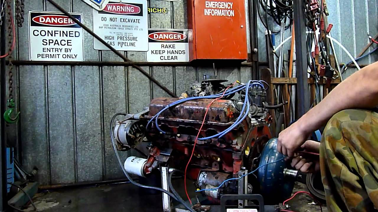 hq holden 253 v8 engine run no2 youtube Motor Starter Control Wiring Basic Motor Starter Wiring Diagram
