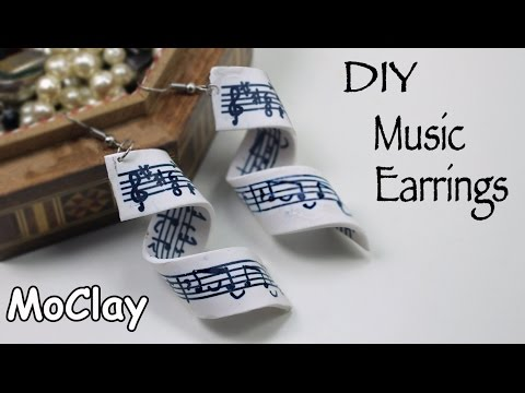Music Earrings to your ears! Polymer clay transfer tutorial