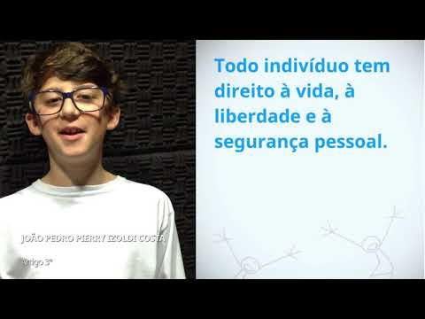 Joao Pedro Pierry Izoldi Costa, Brazil, reading article 3 of the Universal Declaration of Human Righ