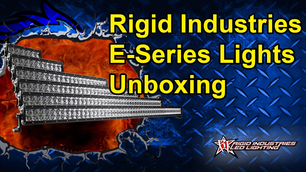 "Rigid Industries 4/"" E Series Amber Flood LED Light Bar with U Cradle"
