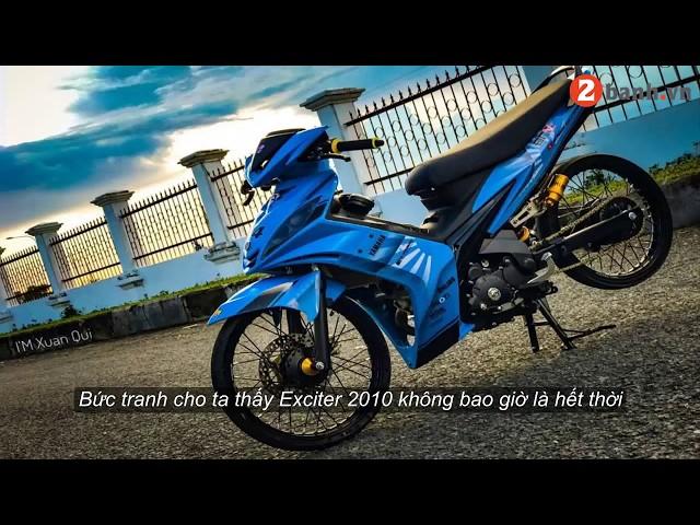 Exciter 135cc phiên b?n ?? phong cách Drag xanh yêu th??ng | 2banh.vn