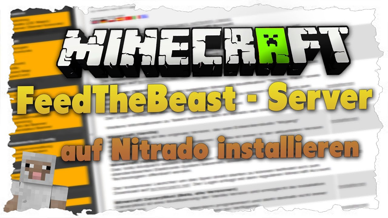 Tutorial FeedTheBeast Server Auf Nitrado Erstellen YouTube - Minecraft server erstellen life in the woods
