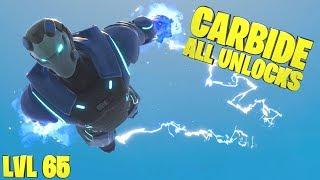 CARBIDE LEVEL 65 FULL ARMOR SHOWCASE - Fortnite Season 4 Battle Pass Skin Unlocked - Fortnite Wins
