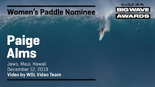 Paige Alms at Jaws | WOMEN'S PADDLE AWARD NOMINEES - Red Bull Big Wave Awards