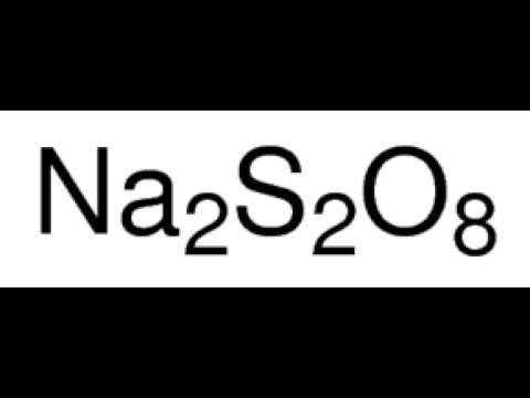 Reaction Of Sodium Persulfate With Halide Salts