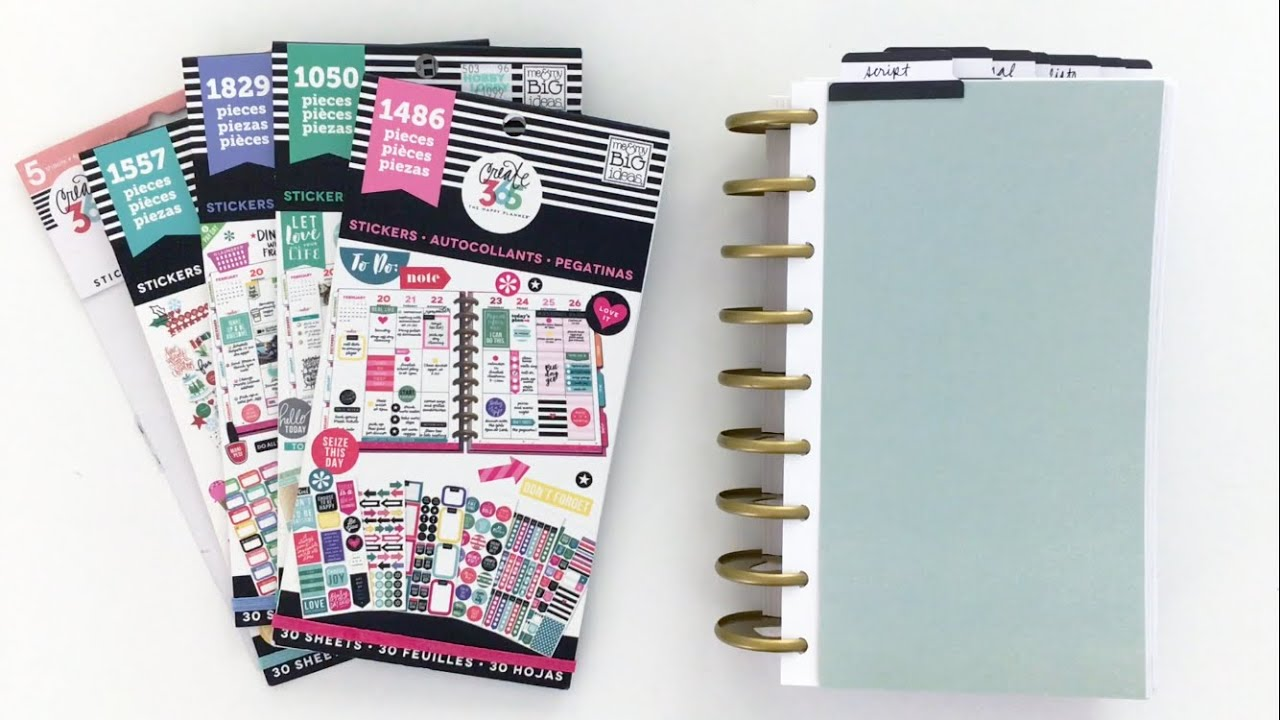 MAMBI Happy Planner Sticker Book Setup - YouTube Happy Planner