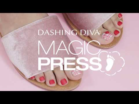 Perfect Pedicures With Dashing Diva Magic Press Toes