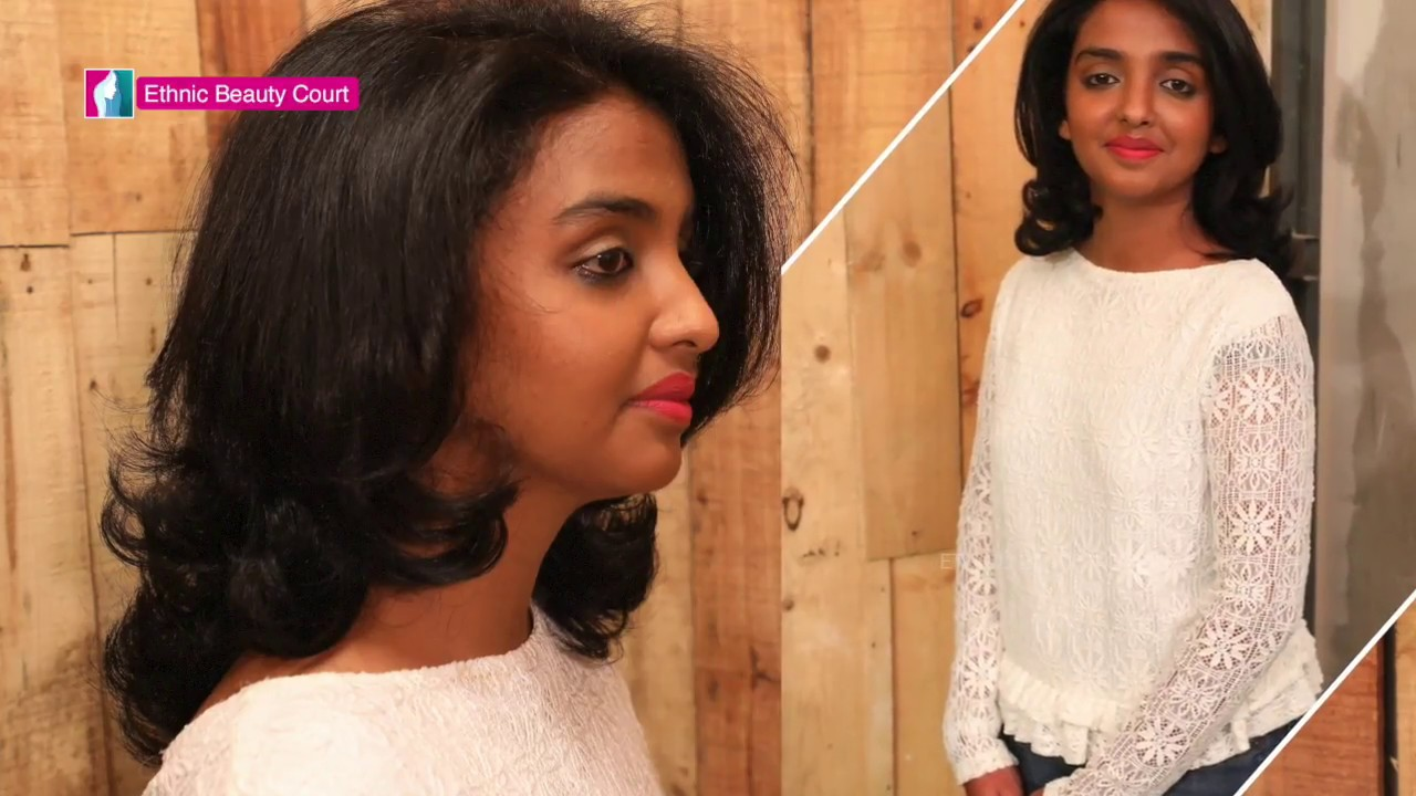 Trendy Haircuts Hairstyle For Medium Short Hair By Hair Stylist Viji Ethnic Beauty Court Youtube