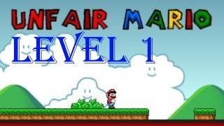 Unfair Mario all levels walkthrough/playthrough - Level 1