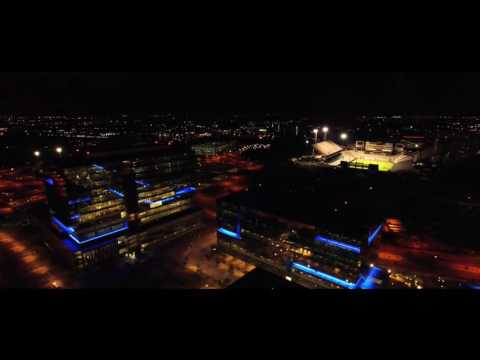 DJI Phantom 3 Professional Drone. Arizona Nights ASU Stadium and Tempe TownLake
