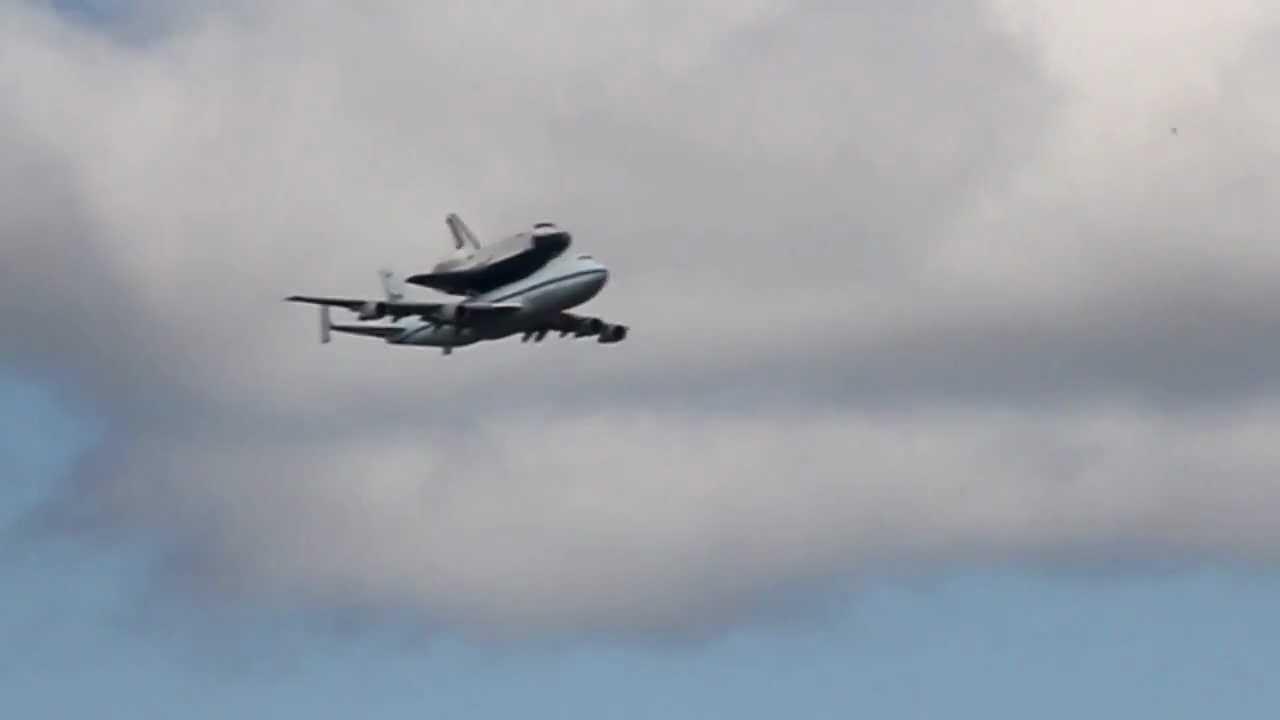 space shuttle flyover brooklyn - YouTube |Space Shuttle Flyover