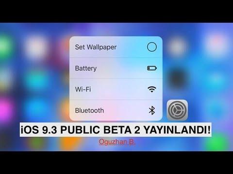 IOS 9.3 Public Beta 2 Yayınlandı