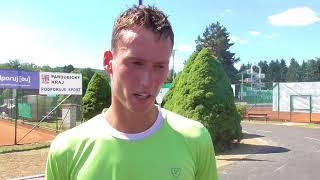 David Poljak po vítězství v 1. kole Rieter Open Ústí nad Orlicí 2018