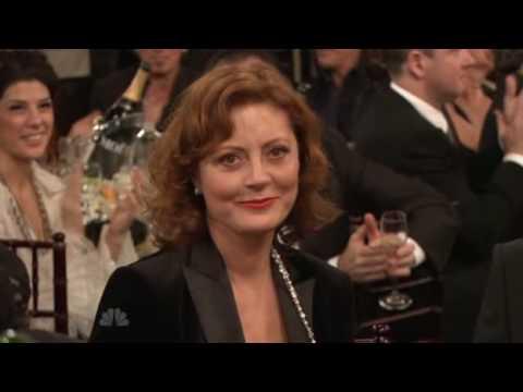 Tom Wilkinson, Laura Linney and Paul Giamatti winning Golden Globes 2009 for John Adams