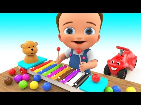 Thumbnail: Toddler Best Learning Video Kids Preschool Learn Colors - Baby Xylophone Learn Colours