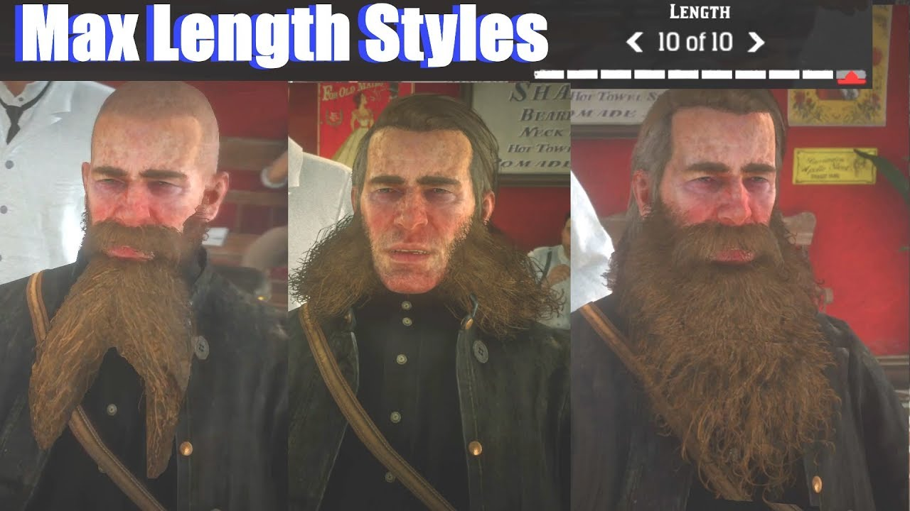 beard and hair styles dead redemption 2 all max length beard amp hairstyles 3147 | maxresdefault