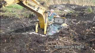 Excavator in deep shit