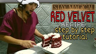 RED VELVET  RECIPE TUTORIAL  STEP BY STEP , REAL TIME .  NO FAST FORWARD