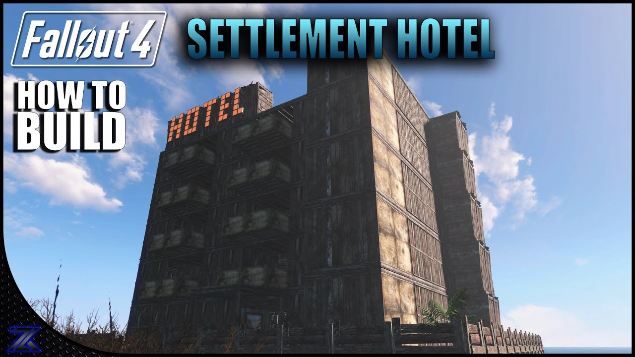 Fallout 4 how to build a hotel settlement building for Fallout 4 bedroom ideas