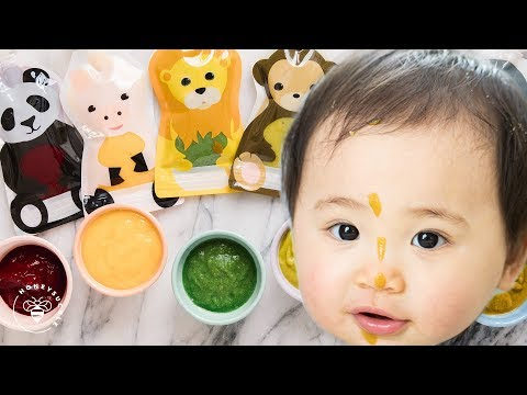 6 Easy BABY FOOD Recipes 👶| HONEYSUCKLE