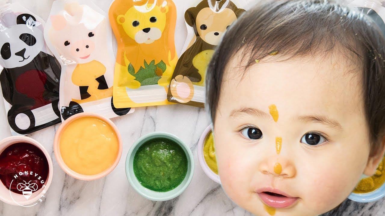 6 Easy BABY FOOD Recipes ?| HONEYSUCKLE