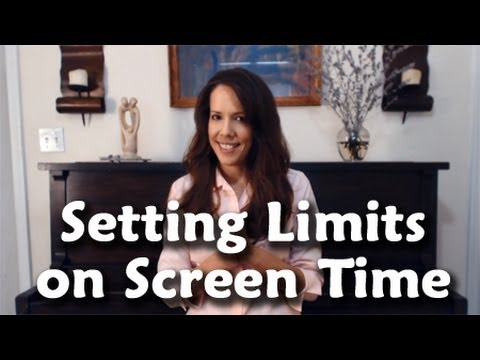 Setting Limits On Screen Time