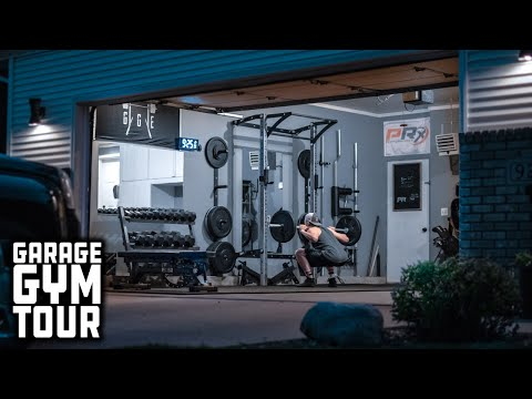 Man Builds Entire Home Gym That Stores On The Wall | Garage Gym Tour