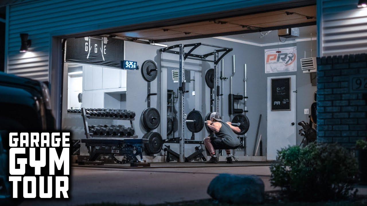 Man Builds Entire Home Gym That Stores On The Wall Garage Gym Tour Youtube
