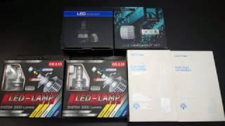 Обзор и тест LED ламп 3-х типов в авто под цоколя H7 и H4 от 2700 до 4000 Люменов, часть 1