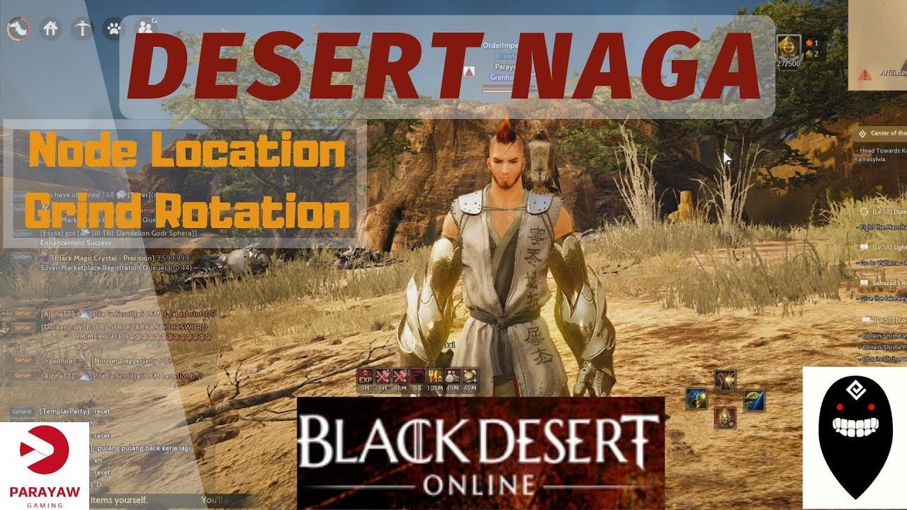 BDO Desert Naga Node Manager Location and Grind Rotation Profit