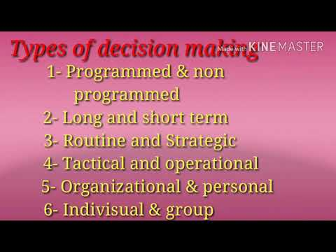 Types of decision