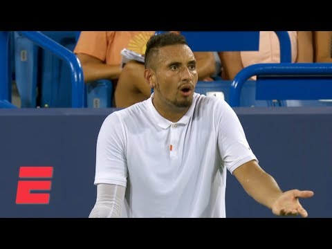 Nick Kyrgios smashes rackets, berates chair umpire during latest meltdown | Tennis Highlights