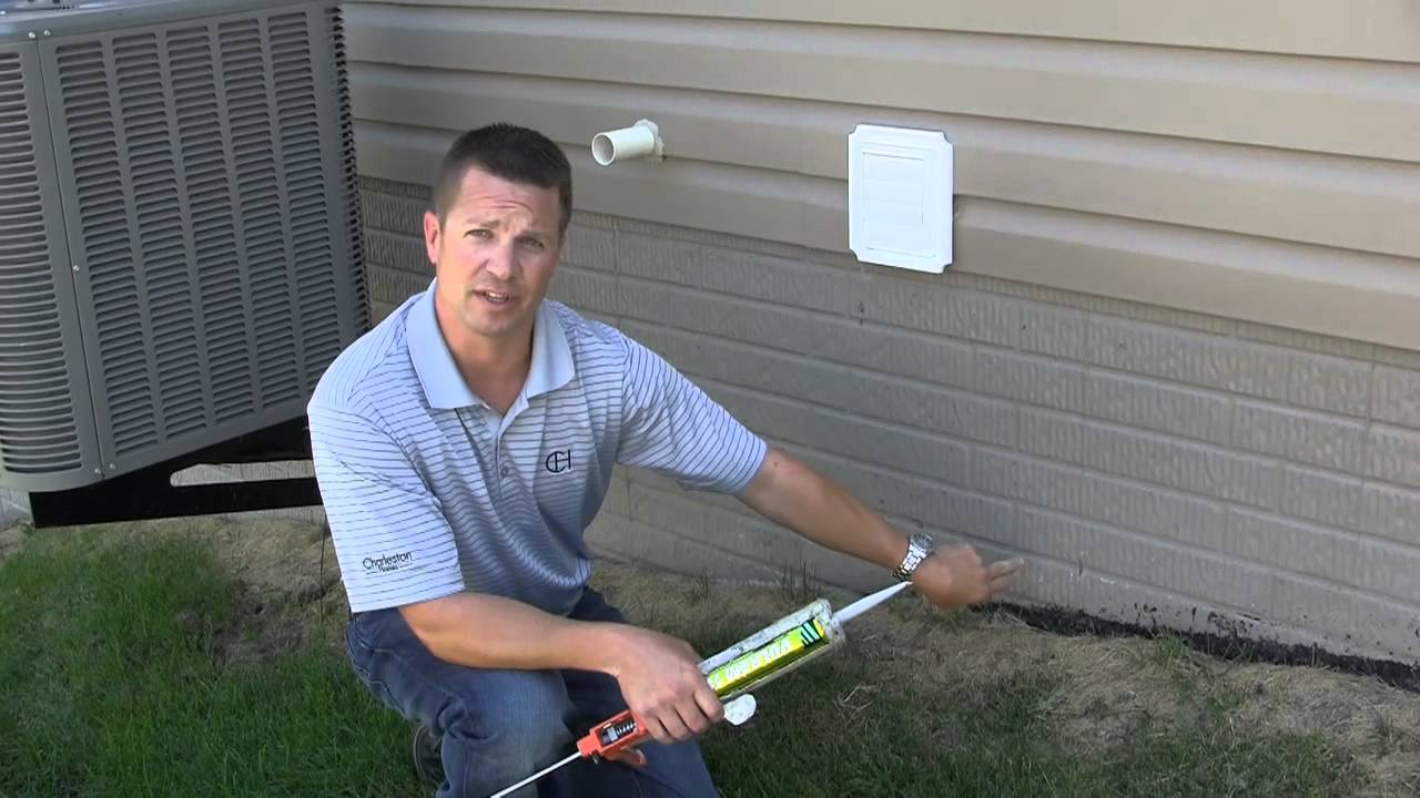 Charleston Homes   Seal Your Exterior Foundation Cracks   YouTube