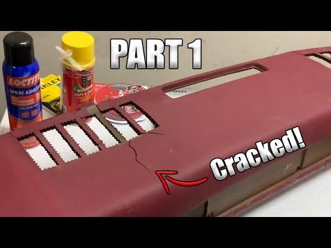 Cracked Dash Repair With Fiberglass CHEVY C10 (Part 1)