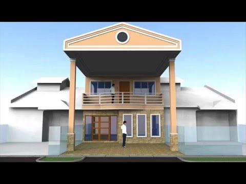 Ubahsuai Rumah Teres 2 Tingkat Bahagian Depan