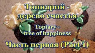 Топиарий (Topiary) - дерево счастья. Мастер-класс. Урок 1