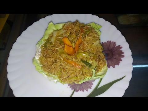 how to make egg fried rice in telugu
