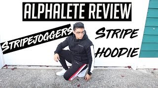 ALPHALETE STRIPE JOGGER AND HOODIE REVIEW