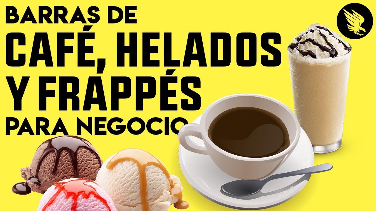Barra de Café, Helados y Frappés Para Negocios