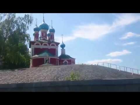 01.06.2016. Углич с воды. Прокатился по водосбору ГЭС с видом на церкви Углича.