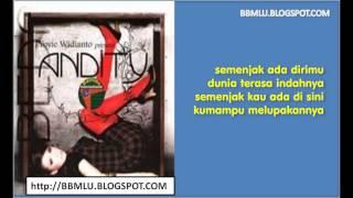 Andity - Semenjak Ada Dirimu karaoke   LIRIKMUSIK10