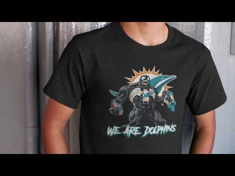 wholesale dealer e6786 66261 We Are The Dolphins Venom x Miami Dolphins NFL Shirts ...